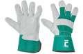 Kombinované rukavice EIDER -zelená, vel.12