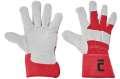 Kombinované rukavice EIDER -červená, vel.11