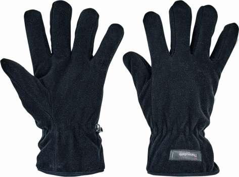 Zimní fleece rukavice MYNAH - černé 0f2b9b4287