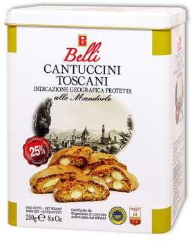 DÁREK: Cantuccini mandlové sušenky plechová dóza 250 g