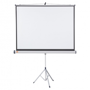 Projekční plátno se stativem Nobo - 150 x 113,8 cm, širokoúhlé 16:10, bílé