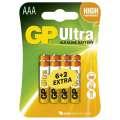 Baterie GP Ultra Alkaline 1,5 V, LR03 6+2 ks