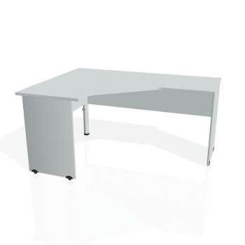 Psací stůl Hobis GATE GEV 60 pravý, šedá/šedá