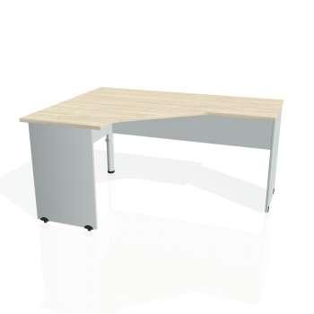 Psací stůl Hobis GATE GEV 60 pravý, akát/šedá