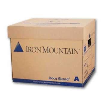 Archivační krabice Iron Mountain - typ A, s víkem, 35 x 25 x 31 cm, hnědá