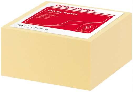 Bločky Office Depot, v kostce - žlutá