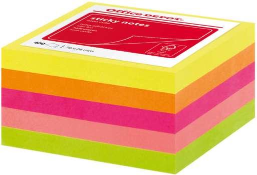 Poznámkový samolepicí bloček Office Depot - 5 barev, 400 ks