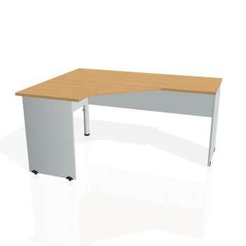 Psací stůl Hobis GATE GEV 60 pravý, buk/šedá