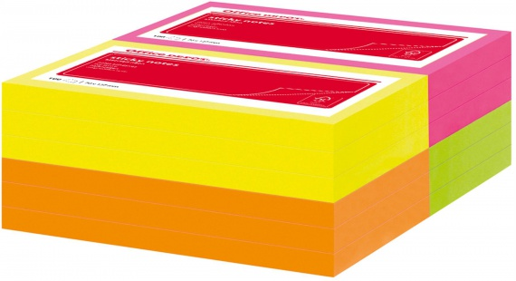 Bločky barevné Office Depot 76x127 mm, neon