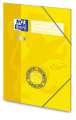 Desky s chlopněmi a gumičkou Soft touch A4 - žlutá