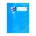 Desky s chlopněmi a gumičkou Oxford Soft touch - modré