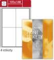 Lesklé etikety S&K Label - bílé, 105 x 148 mm, 400 ks
