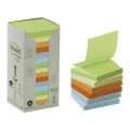 Recyklované Z-bločky Post-it 76 x 76 mm - mix barev