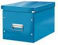 Box CLICK-N-STORE čtvercový A4, WOW - modrá