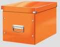 Box CLICK-N-STORE čtvercový A4, WOW - oranžová