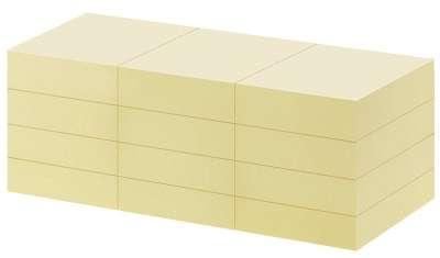 Bločky recyklované Office Depot, 38,0 x 50,0 mm žluté