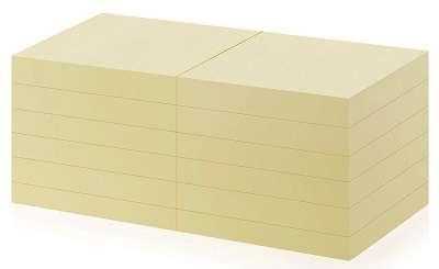 Bločky recyklované Office Depot, 76,0 x 76,0 mm, žluté
