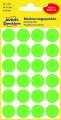 Kulaté etikety Avery Zweckform - neon zelené, průměr 18 mm, 96 ks