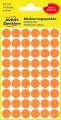 Kulaté etikety Avery Zweckform - neon oranžové, průměr 12 mm, 270 ks