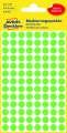 Kulaté etikety Avery Zweckform - neon zelené, průměr 8 mm, 416 ks