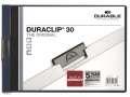 Zakládací desky s klipem Durable Duraclip - A4, vodorovné, kapacita 30 listů, modré