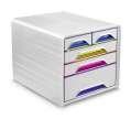 Zásuvkový barevný box Cep Smoove - 5 zásuvek, barevný