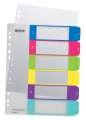 Plastový rozlišovač Leitz WOW - A4+, barevný, 1-6