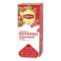 Ovocný čaj Lipton Refresh Jahody, 25x 1,6 g