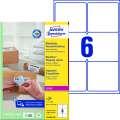 Etikety na zásilky Avery Zweckform - bílé, 99,1 x 93,1 mm, 600 ks