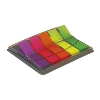 Plastové záložky Office Depot - 5 barev, průhledné, 5 x 40 ks