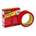 Lepicí bezpečnostní páska Scotch - červená, 35 mm x 33 m