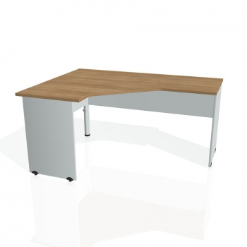 Psací stůl Hobis GATE GEV 60 pravý, višeň/šedá