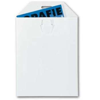 Kartonová obálka - A4, bez lepidla, bílá, 100 ks