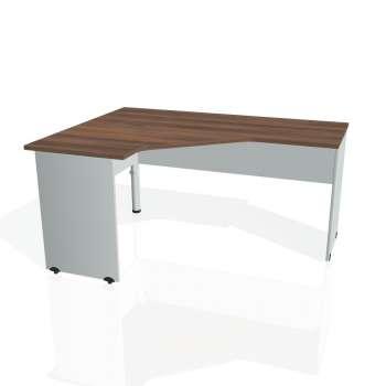 Psací stůl Hobis GATE GEV 60 pravý, ořech/šedá