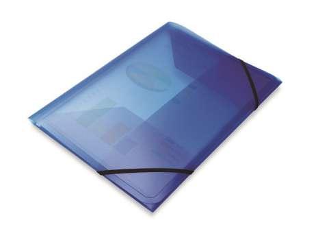 Desky na dokumenty s gumičkou Office Depot - A4, modré, transparentní, 5 ks
