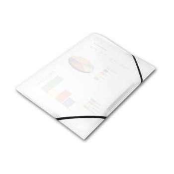 Desky na dokumenty s gumičkou Office Depot - A4, čirá, 5 ks