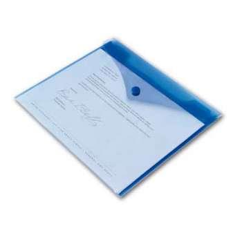 Spisové desky Office Depot - A4, modrá transparentní, 5 ks