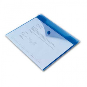 Spisové desky Office Depot - A4, modré transparentní, 5 ks