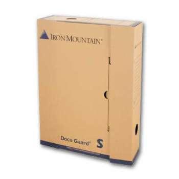 Archivační krabice Iron Mountain - typ S, 24 x 32 x 7,5 cm, hnědá