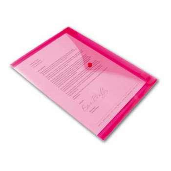 Spisové desky Office Depot - A4, růžová transparentní, 5 ks