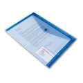 Spisové desky Office Depot - A4 s kapsou na vizitku, modrá transparentní , 5 ks