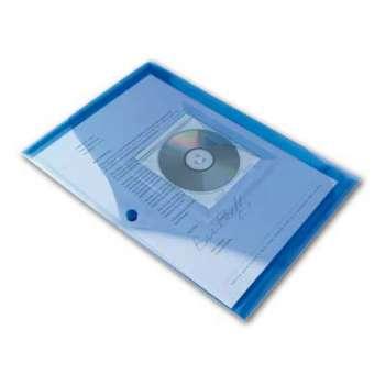 Spisové desky Office Depot A4 s kapsou, modrá  5 ks