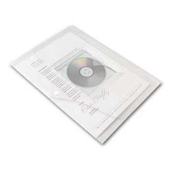 Spisové desky Office Depot - A4 s kapsou na CD, čirá, 5 ks