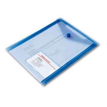 Spisové desky Office Depot - A5 na výšku, transp. modré, 5 ks