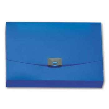 Desky na spisy s klipem Office Depot - A4, hřbet 4 cm, modré transparentní