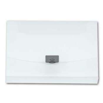 Desky na spisy s klipem Office Depot - A4, hřbet 4 cm, čirá