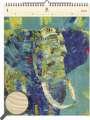 Dřevěný obrazový kalendář 2020 - Elephant