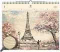Dřevěný obrazový kalendář 2020 - Eiffel Tower