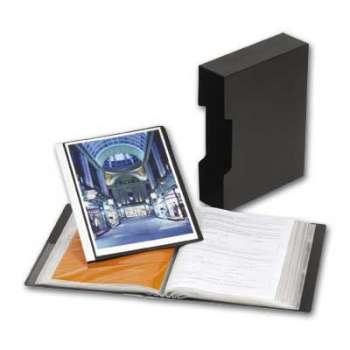 Katalogová kniha Office Depot - A4, černá s arch. boxem, 80 kapes