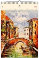 Dřevěný obrazový kalendář 2020 - Venezia III